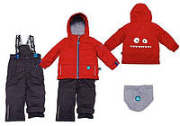 Зимний костюм для мальчика 2-7 лет  (куртка, полукомбинезон, манишка) ТМ Deux par Deux J 811-964