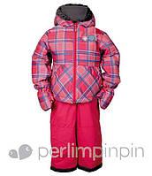 Зимний термокостюм для девочки от 1 до 3,5 лет, р. 80-98 (куртка, полукомбинезон, рукавицы) ТМ PerlimPinpin VH233A