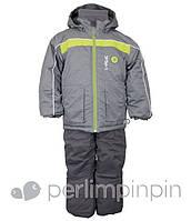 Зимний термокостюм для мальчика от 4 до 7 лет, р. 104-122 (куртка, полукомбинезон, манишка) ТМ PerlimPinpin VH240С