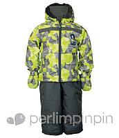 Зимний термокостюм для мальчика на 1 год, р. 80 (куртка, полукомбинезон, рукавицы) ТМ PerlimPinpin VH234B
