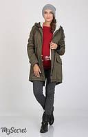 Куртка-парка Inira для беременных р. 44-50 ТМ Юла Мама Хаки OW-36.043