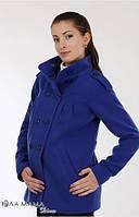 Короткое пальто для беременных Mirta р. 44 ТМ Юла Мама  Синий N14-13.10.1