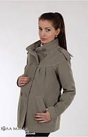 Короткое пальто для беременных Mirta р. 44, 46 ТМ Юла Мама Кофе