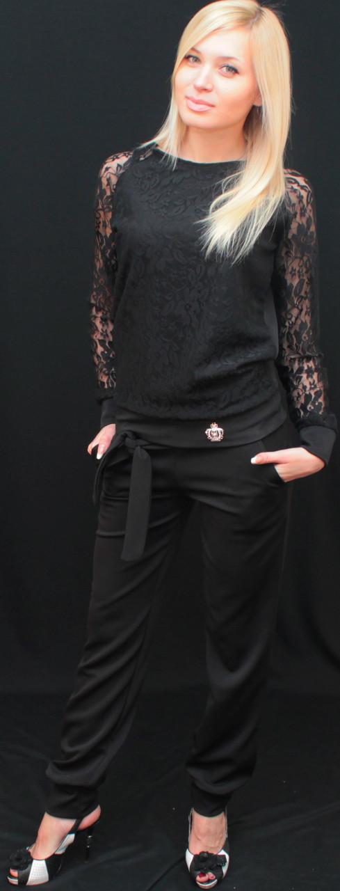 Брючный костюм женский черный