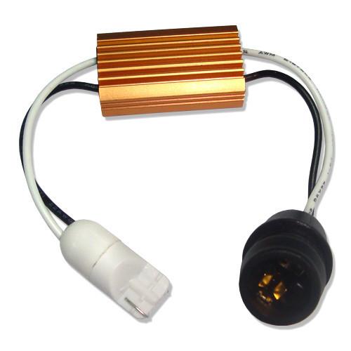 """T10 с разьемами  """"папа""""+""""мама"""" с нагрузочным резистором (Resistor Warnning Canceller)"""