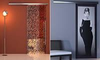 Стеклянные раздвижные двери с рисунком