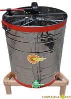 Медогонка поворотная 4-х рамочная НТЦ Нержавеющая сталь (бак, касеты), фото 1