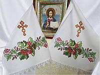 Рушник с вышивкой под икону Дуб и калина