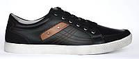 Мужские туфли слипоны, черные из натуральной кожи. Размеры 40, 41, 42, 43, 44, 45. Sainiu SN005-1.