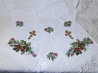 Венчальный набор вышитый рушник и 4 салфетки «Дуб и калина