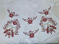 Венчальный набор вышитый рушник и 4 салфетки «Пташки кохання»