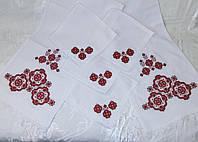 Венчальный набор вышитый рушник и 4 салфетки «Діторобчик»