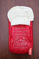 Конверт-чехол в санки,коляску Монти красный, фото 1