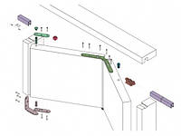 Система для складывающихся дверей из двух створок Koblenz