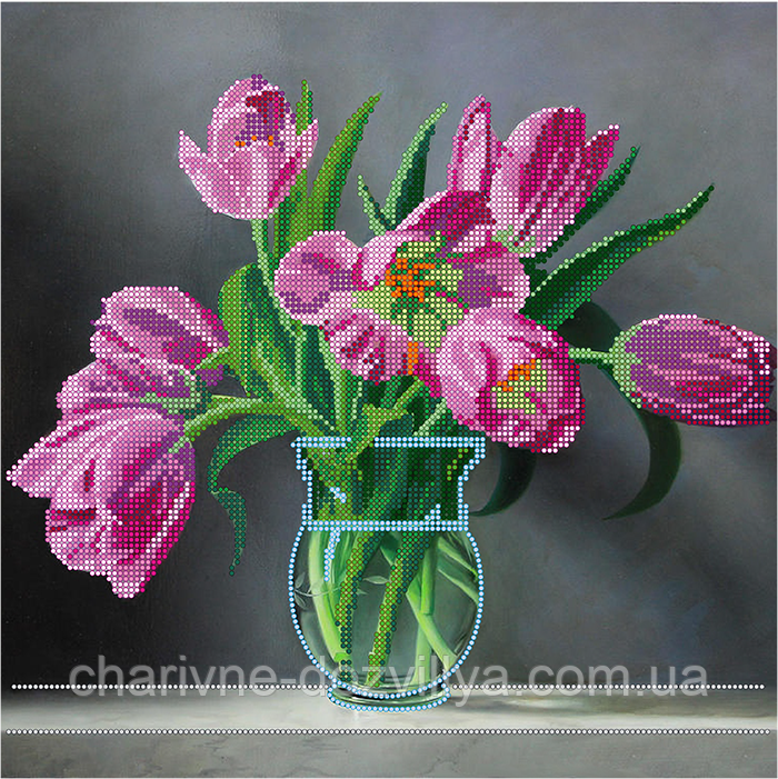 Голландские тюльпаны схема вышивка