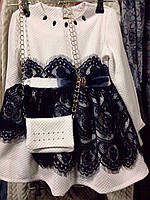 Нарядное детское платье с сумочкой .