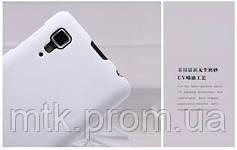 Чехол бампер и пленка  Nillkin Super Frosted Shield для телефона смартфона Lenovo P780  white белый