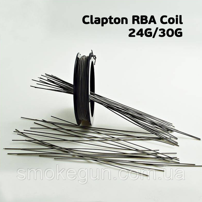 Clapton RBA Coil 24G/30G (0.5мм/0.25мм) 1м