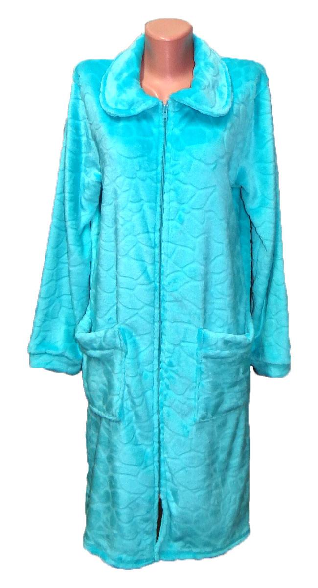 Махровый женский халат р. 48-56