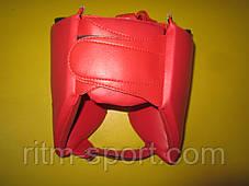 Шлем боксерский  MATSA (искусственная кожа, красный), фото 2