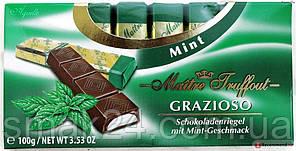 Шоколад Maitre Truffout Grazioso с мятой 45% какао Австрия 100г