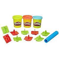 Игровой набор Play-doh ведерко с формочками Цифры (Числа). Оригинал Hasbro