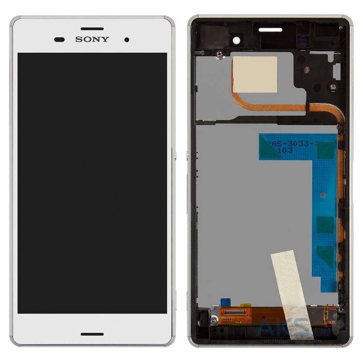 Дисплей (экран) для телефона Sony Xperia Z3 Dual D6633 + Touchscreen with frame Original White