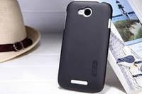 Чехол бампер и пленка Nillkin Super Frosted Shield для телефона смартфона Lenovo A706 черный black