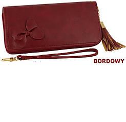 Потрясающий кошелек из Эко-кожи красного цвета от Польского производтеля!