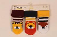 Махровые носочки для новорожденных с тормозами TM BROSS р.6-18 мес (74-80 см))