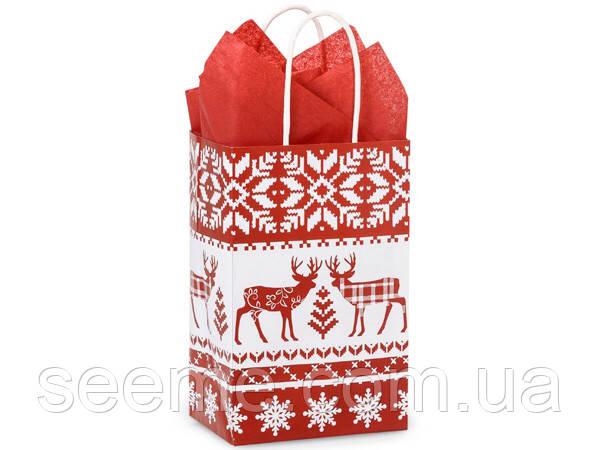 """Пакет подарочный """"Deer"""", 135x205x90 мм"""