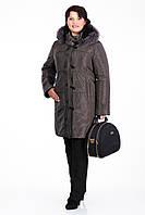 Пальто зимнее женское с мехом песца размеры от 50 до 60
