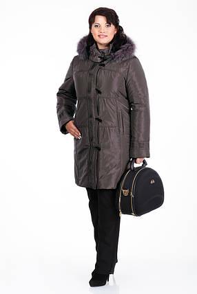 74b9d882dd23 Пальто зимнее женское с мехом песца размеры от 50 до 60, фото 2