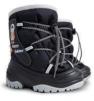 Детские зимние дутики DEMAR ! Сапоги Demar Happy Eskimo (черные)