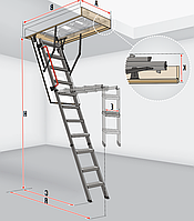 Чердачная лестница Fakro Komfort LMK 280 см 70х120