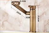 Смеситель кран трансформер бронза, фото 4
