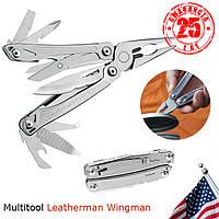 Плоскогубцы+пасатижи+нож+отвертки Мультитул Leatherman Wingman