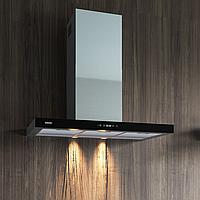 Кухонная вытяжка Eleyus Stels 1000 LED SMD 90 IS+BL нержавеющая сталь черное стекло