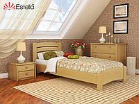 """Деревянная кровать """"Венеция Люкс"""" 900х2000 (массив)"""