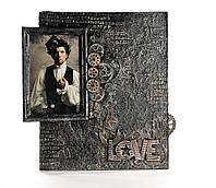 "Фоторамка для мужчины стимпанк Рамка для фото ""LOVE"", фото 1"
