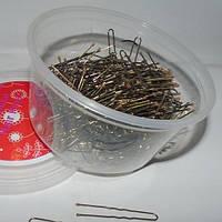 Шпильки для волос золотые 4,5 см, уп. 300шт