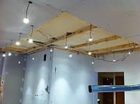 Разводка электропроводов и установка освещения