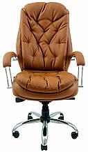 Кресло для руководителя Венеция хром к/з Мадрас/Тиффани/Титан/Велюр