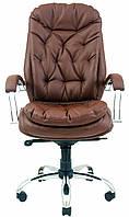 Кресло для руководителя Венеция хром Кожа-люкс
