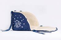 Матрасик в санки открытый (овечья шерсть) Baby Breeze синий