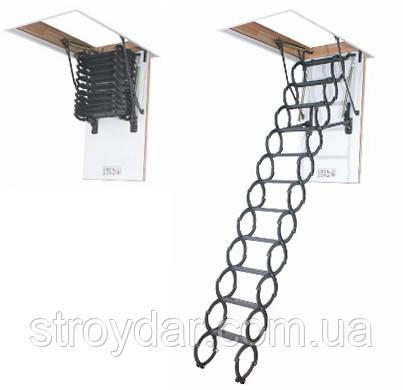 Ножничная чердачная лестница Fakro LST (Факро ЛСТ) 280 см 70х120 - СтройДАР в Днепре