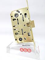 Замок межкомнатный AGB Mediana Evolution WC B01102.50.03 латунь