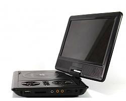 Портативный переносной DVD проигрыватель DVD-989TV, экран 9,5 дюймов, Pal/Secam, li-ion батарея