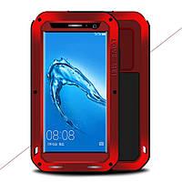 Чехол противоударный Love Mei Gorilla Glass для Huawei Nova Plus G9 Plus красный