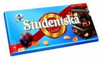 Шоколад Studentska Pecet Horka - Horka (Студентка черный шоколад изюм, арахис, цукаты) 180 г. Чехия